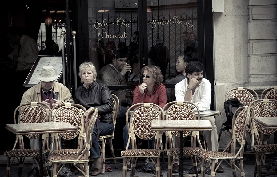 People at the Brasserie