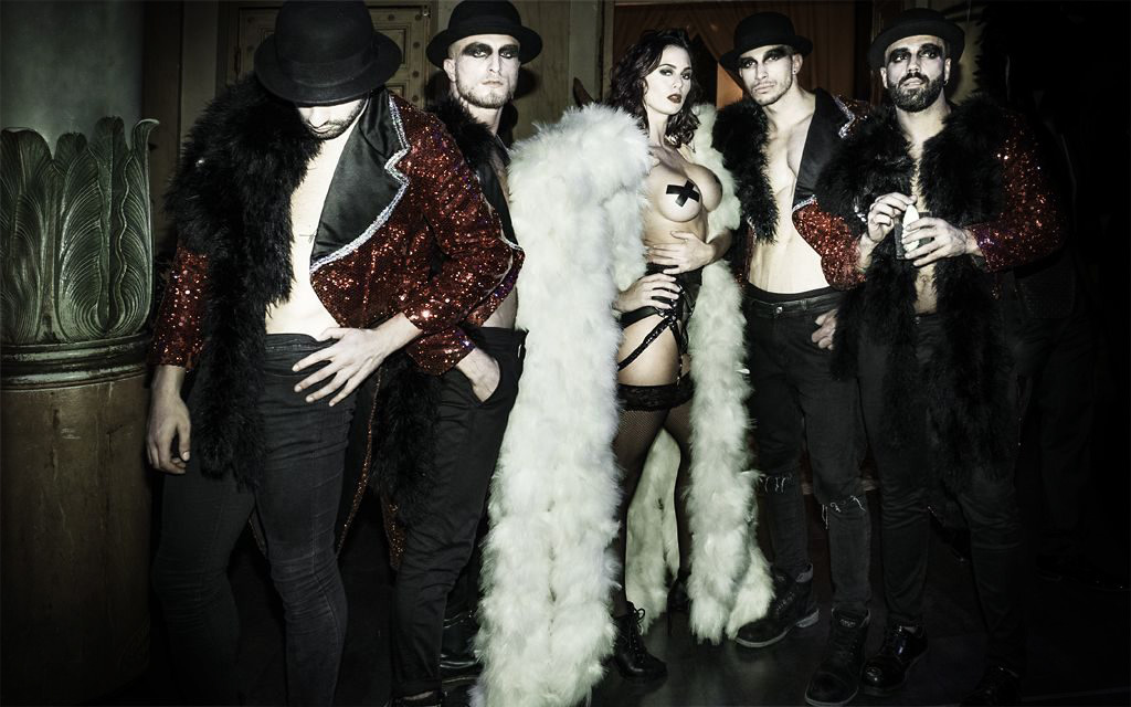 burlesque ballet team from london